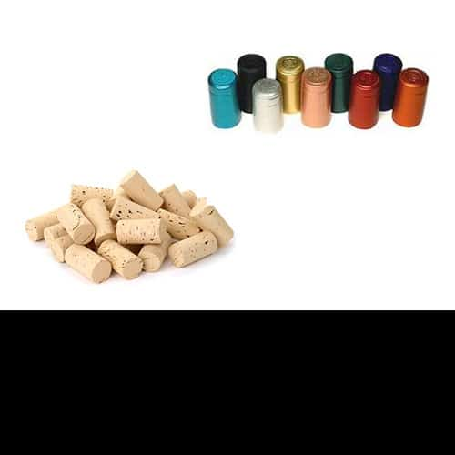 Corks, Shrinks and Labels for wine.